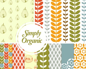 Digital Paper Pack: Simply Organic - 10 Printable Paper Patterns