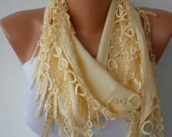 Light Yellow Pashmina Scarf Birthday Gift Summer scarf Easter Cowl, Necklace,Bridesmaid Gift Gift Ideas For Her Women Fashion Accessories