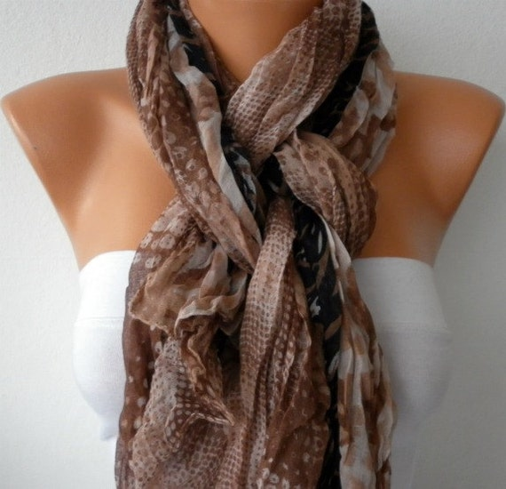 Earth Tones Scarf, Camouflage Shawl, Fall Scarf,Cowl Scarf, Multicolor Gift Ideas For Her, Women Fashion Accessories