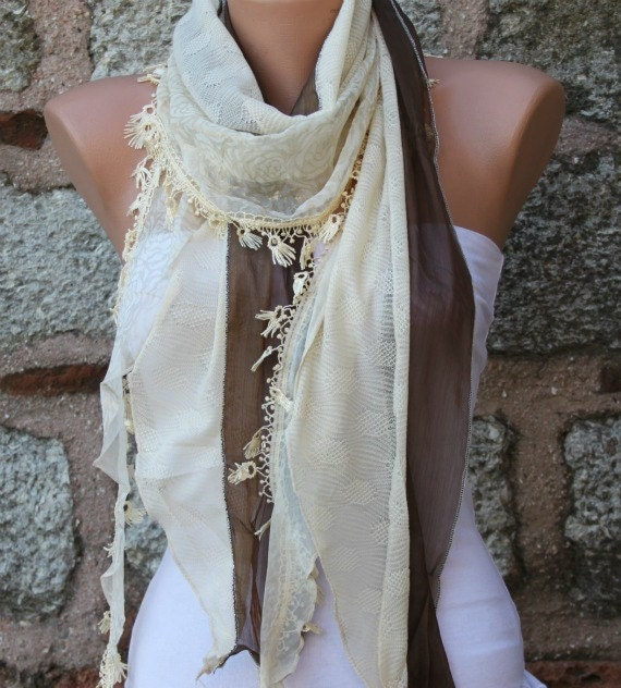 Brown&Yellow Scarf Shawl,Bridal Scarf Cowl Scarf Bridesmaid Gift Bridal Accessories Gift Ideas For Her Women Fashion Accessories