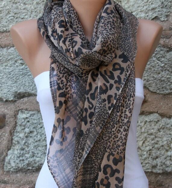Leopard  Scarf  -   - Shawl - fatwoman