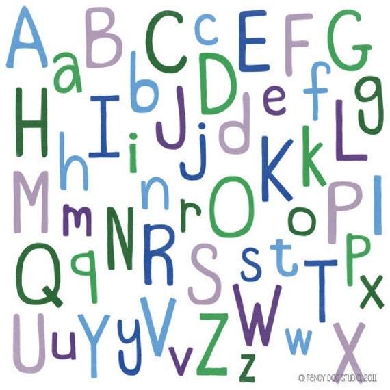 clip art alphabet letters digital font scrapbooking clipart