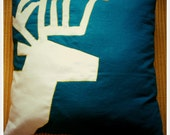 Graphic Stag Pillow