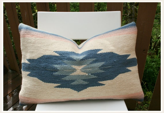Southwest Vintage Sunset Blanket Pillow