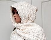 "Pattern for Hooded Scarf ""Lilja"""