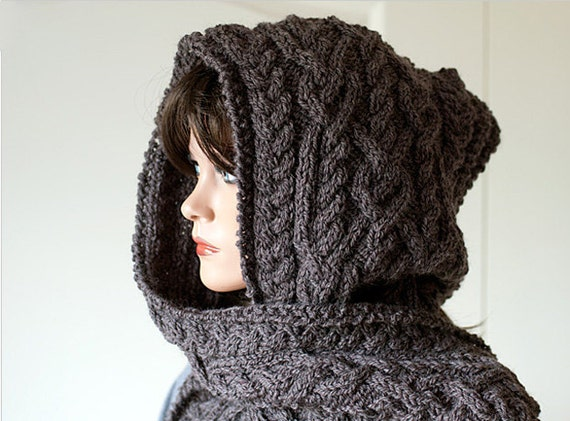 """Pattern for Hooded Scarf """"Ingrid"""""""
