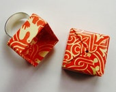 LITTLE BIRD red origami box RING  - adjustable -