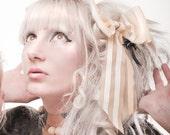 Latex stripey hair bow accessory