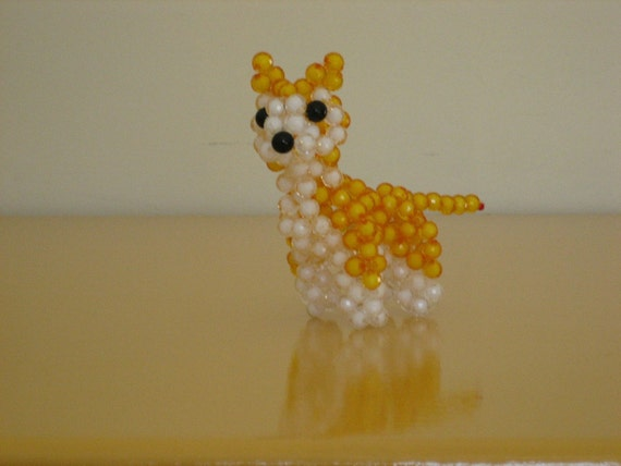 Cute Doggie in 3D-Table decor for weddings, birthdays,parties and events-Unique, White and Yellow