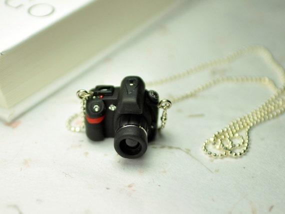 Nikon D90 DSLR Camera miniature necklace
