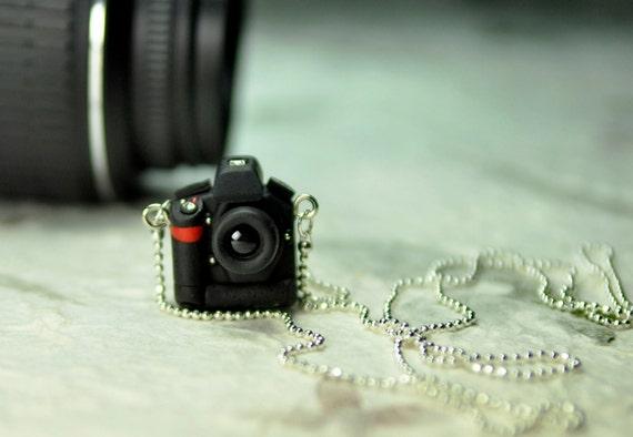 Nikon D3 DSLR Camera miniature necklace
