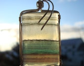 Fluorite Pendant, Gold-Filled Wire Wrapped Pendant, Wire Wrapped Cabachon, Purple and Green Fluorite Pendant