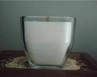 Beeswax Wood Wicked  Candle in  Glass Container.  Paraffin and zink free candle