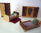 Vintage Miniature Bedroom for a Doll House