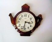 Vintage Ceramic Wall Clock from Pallas Made in Germany