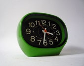 Vintage Mod Desk Clock from Rhythm Made in Japan