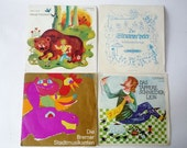 Vintage Collection of 4 Vinyls for Children in German