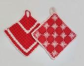 Pair of Handmade Crocheted Pot Holders