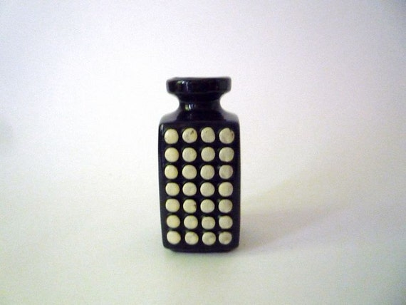Vintage Op art Haldensleben Vase 1970