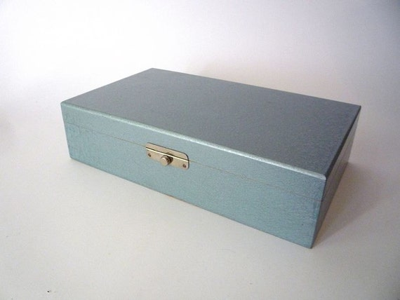 Blue Wooden Vintage Box
