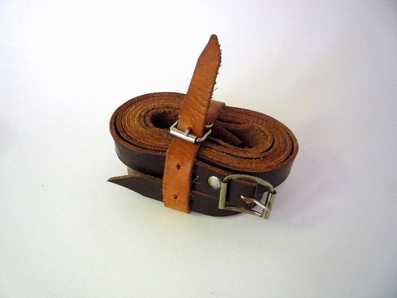 Vintage Leather Luggage Belts