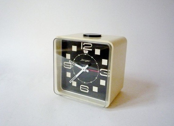 Vintage Mod Desk Clock from Jerger