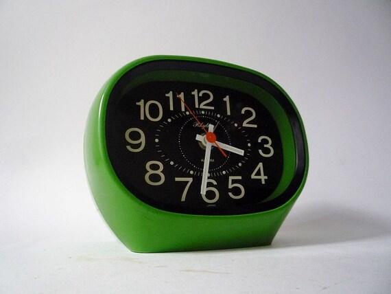 Vintage Mod Desk Clock from Rhythm Made in Japan