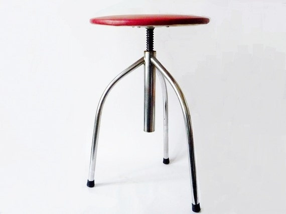 RESERVED - Vintage Mid Century Industrial Chrome Drafting Stool