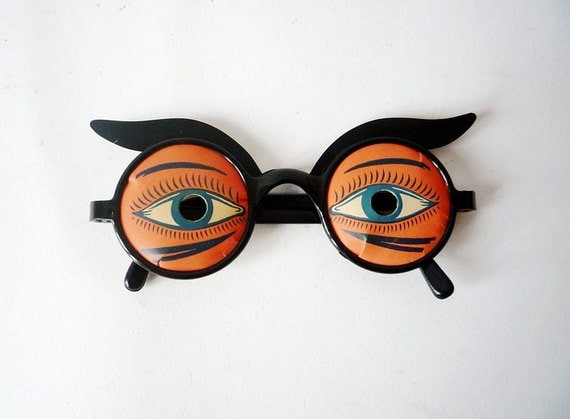Vintage Glass and Eyes Props Combo Early 60's