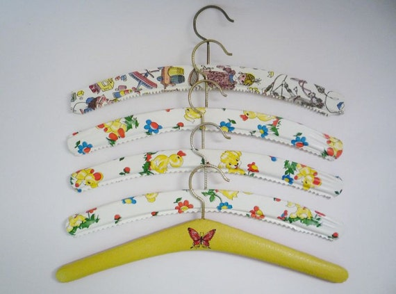Vintage Collection of 5 Hangers for Children Clothes