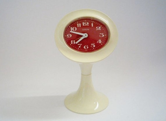 Vintage Mod Desk Clock from Europa