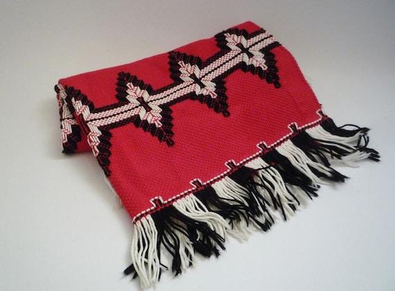 Vintage Soft Embroidered Cotton Rug