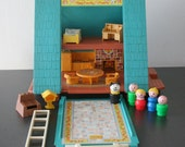 Vintage Fisher Price Little People A frame House
