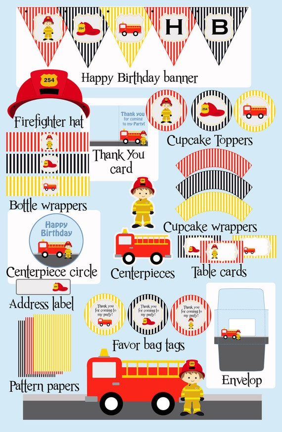 Firefighter Party Printable Party All You Need To By