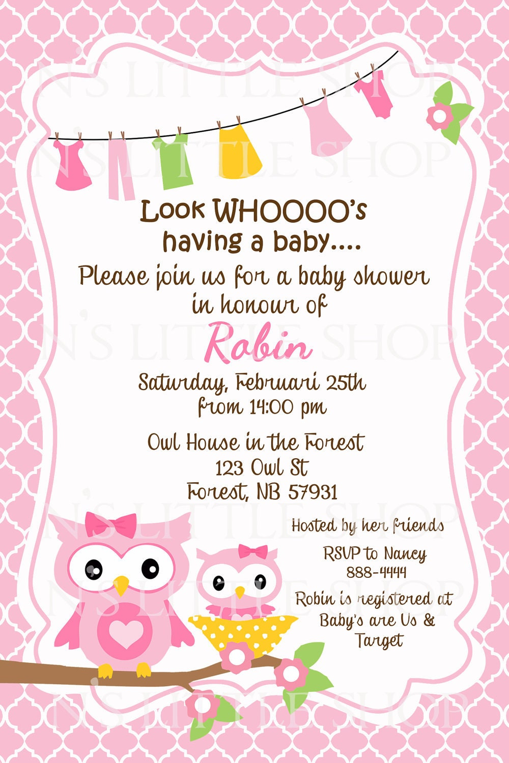Baby Shower Invitation Card for your inspiration to make invitation template look beautiful