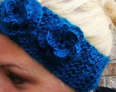 Double Flower Crochet Headband/Headwrap