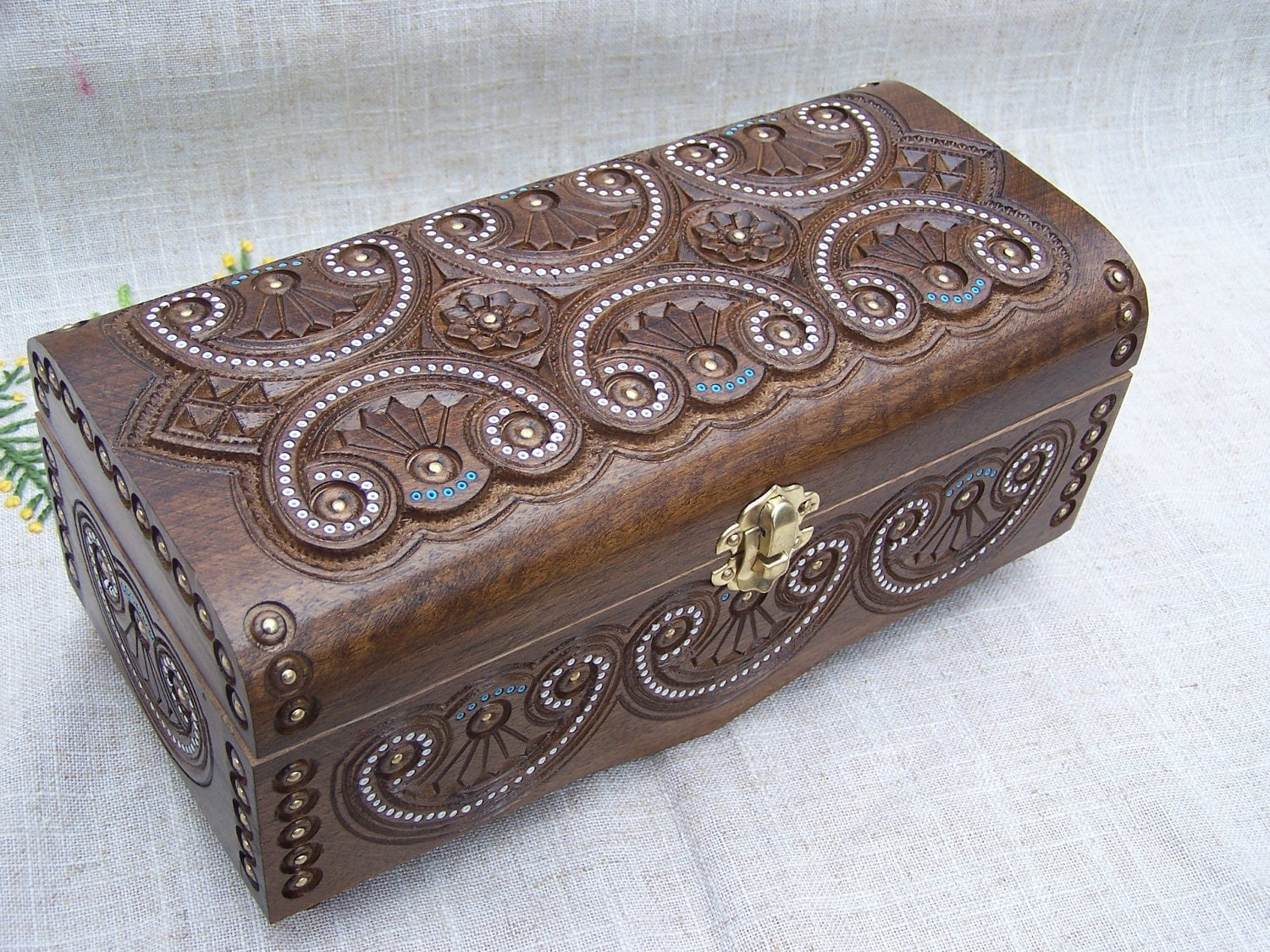 Jewelry Box Ring Box Wooden Box Wood Carving Boxes By