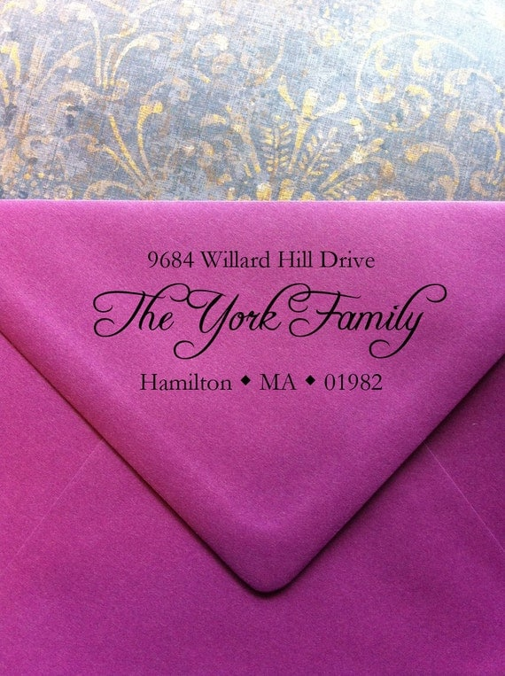 York Address Stamp Great for Housewarming Gifts