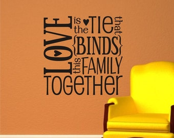 Family Vinyl Decal - Vinyl Lettering Wall Art