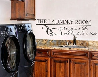Laundry Room Vinyl Wall Art - Vinyl Lettering - Vinyl Decal