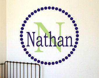 Name Decal - Personalized Childrens Decor Monogram Vinyl Wall Decal -Vinyl Lettering -Vinyl Wall Art Sticker