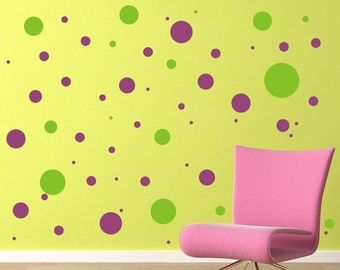Polka Dot Vinyl Decals - Vinyl Wall Art - Fun for a Bedroom or Nursery