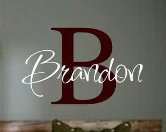 Personalized Monogram Kids Wall Decals - Vinyl Wall Art - Vinyl Lettering - baby boy nursery wall decal