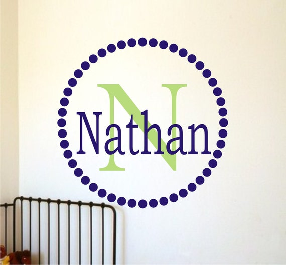 Name Decal - Personalized Childrens Decor Monogram Vinyl Wall Decal -Vinyl Lettering -Vinyl Wall Art Sticker
