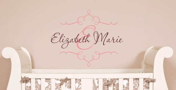 Personalized Childrens Decor Baby Nursery Monogram Vinyl Name Wall Decal, Vinyl Lettering Wall Art Decal