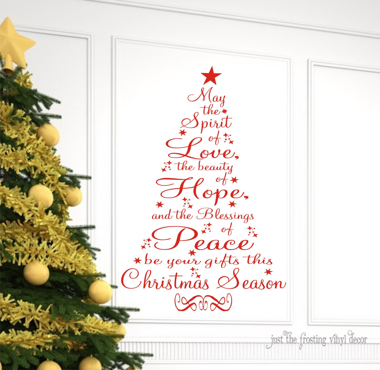 christmas decor christmas wall decal christmas prayer vinyl. Black Bedroom Furniture Sets. Home Design Ideas