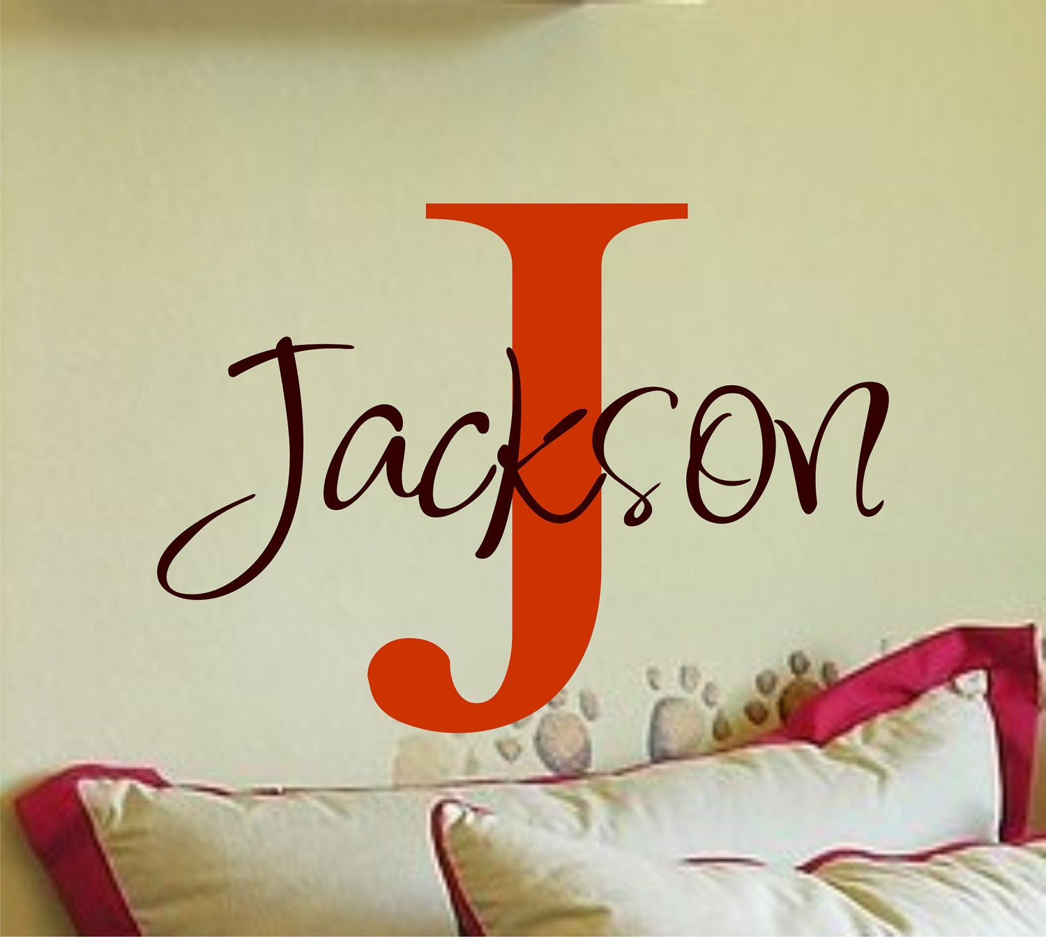 Personalized Monogram Kids Wall Decals Vinyl By