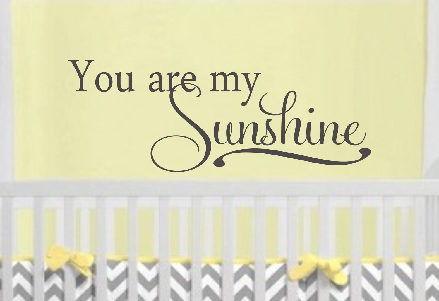 You Are My Sunshine Childrens Decor Vinyl Lettering - Wall decals you are my sunshine