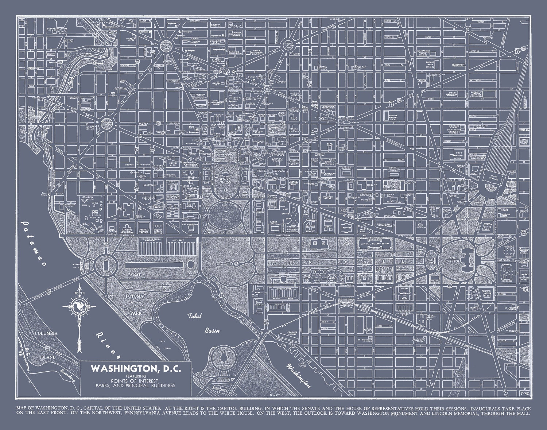 It is a photo of Astounding Printable Street Map of Washington Dc