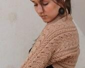 Hand knit bolero jacket